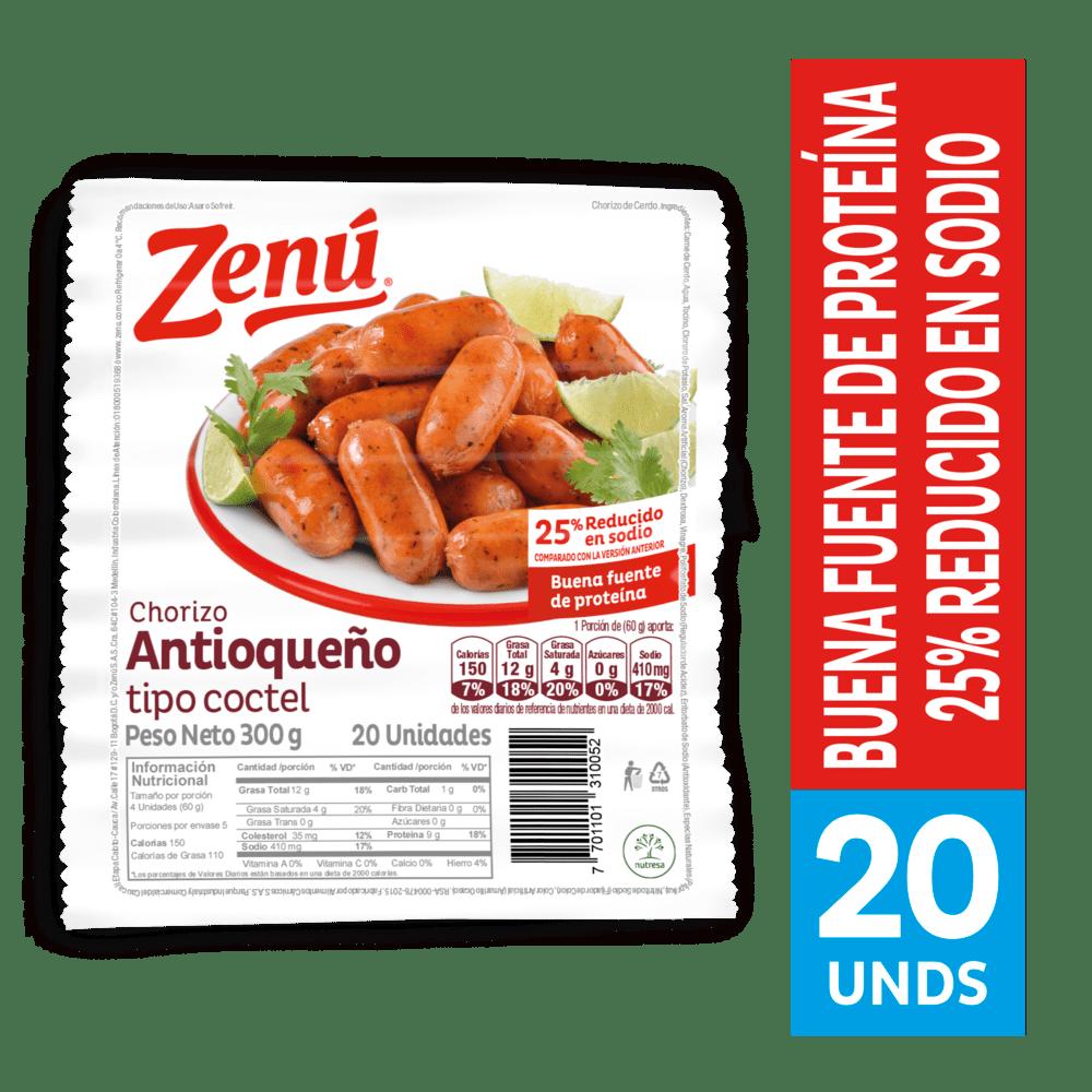 Chorizo Zenú Coctel Antioqueño 300 G