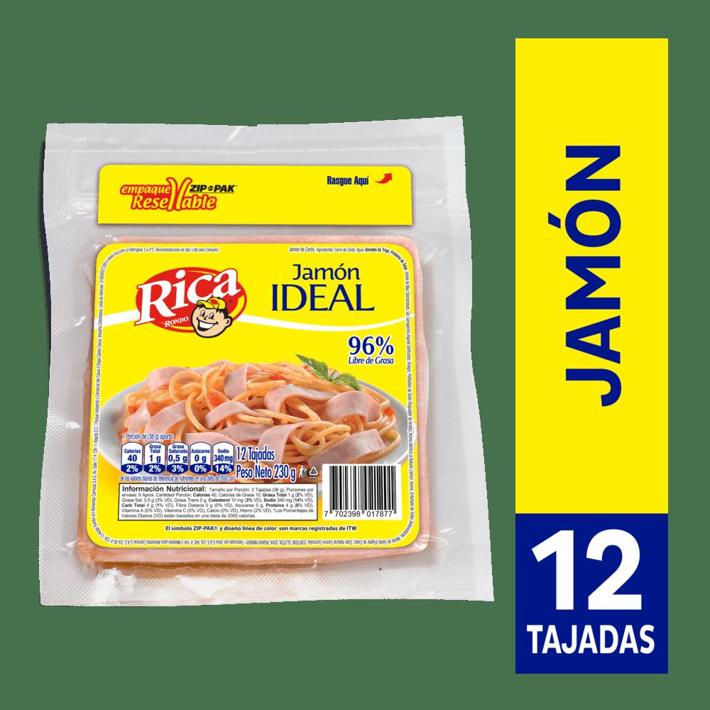 Jamón Rica Ideal 230 G