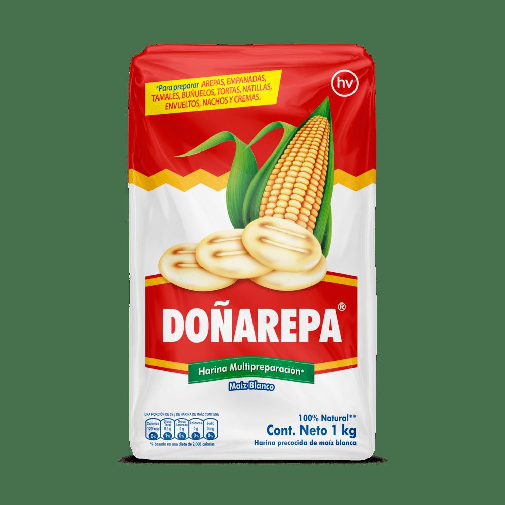 Harina De Maíz Blanco Doñarepa 1000 G