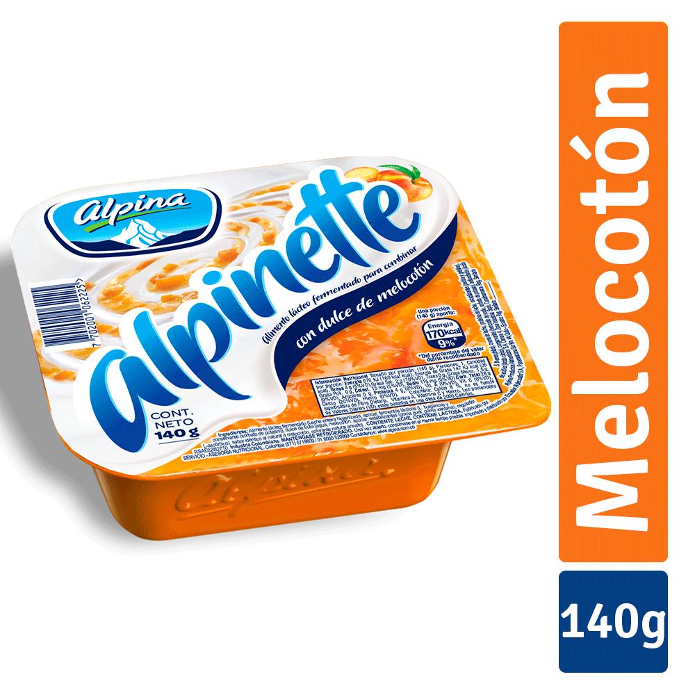Alpinette Alpina Melocotón 140 G