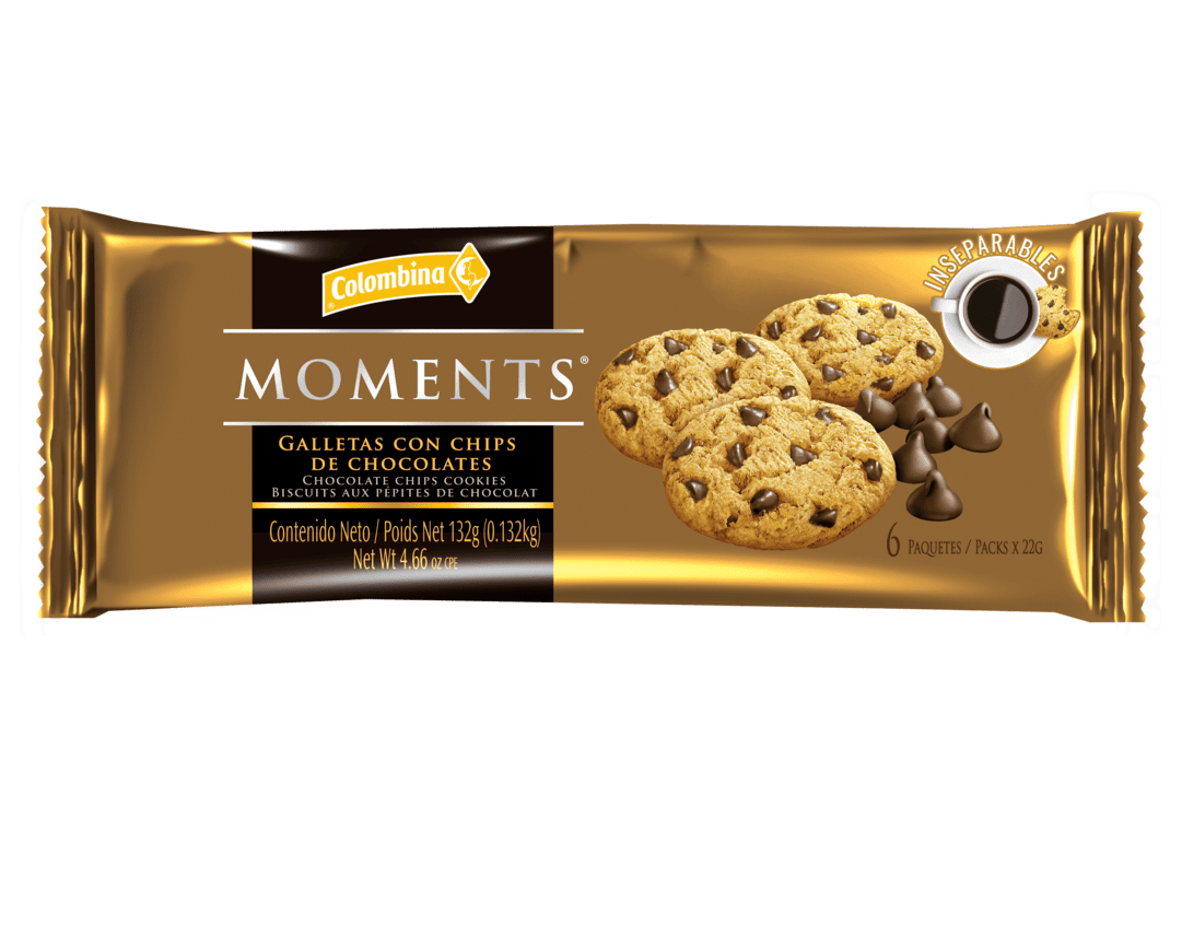 Galletas Moments Chips Choco 132 G