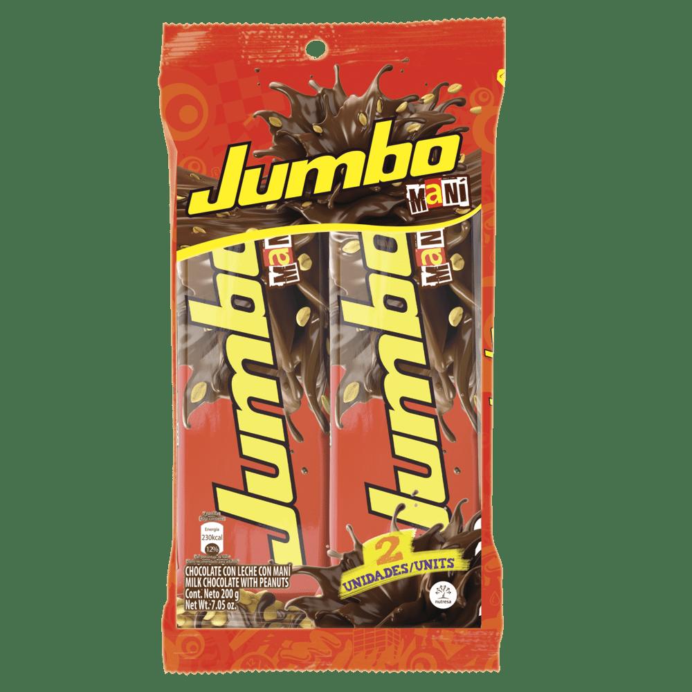 Chocolatina Jet Jumbo Mani Paq X 2 Und / 200 G
