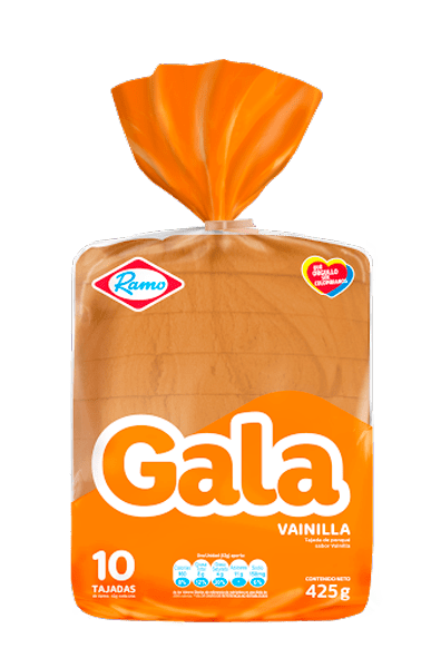 Ponque Gala Bloque Vainilla 425 G
