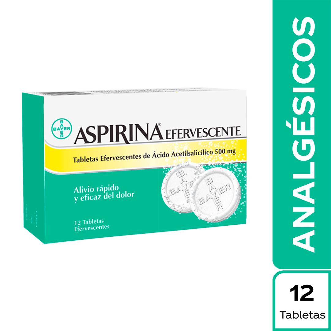 Aspirina Efervescente Tabletas 12 Und