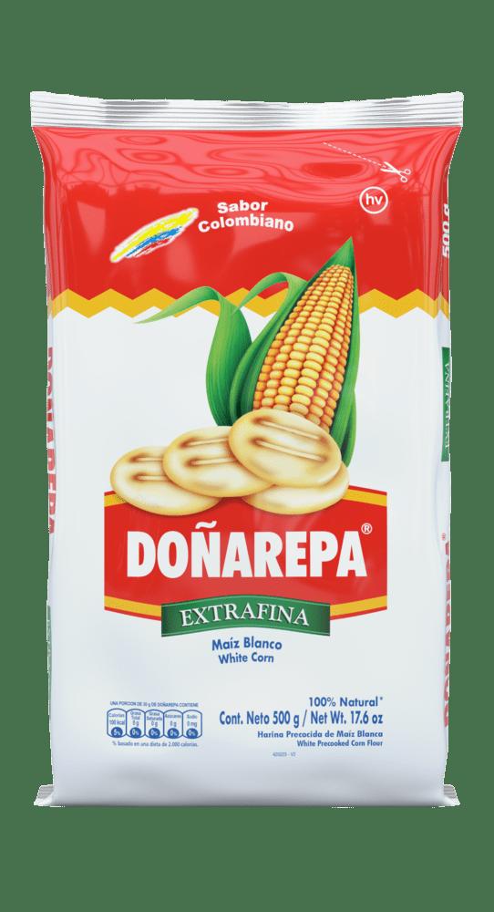 Harina De Maíz Blanco Doñarepa 500 G