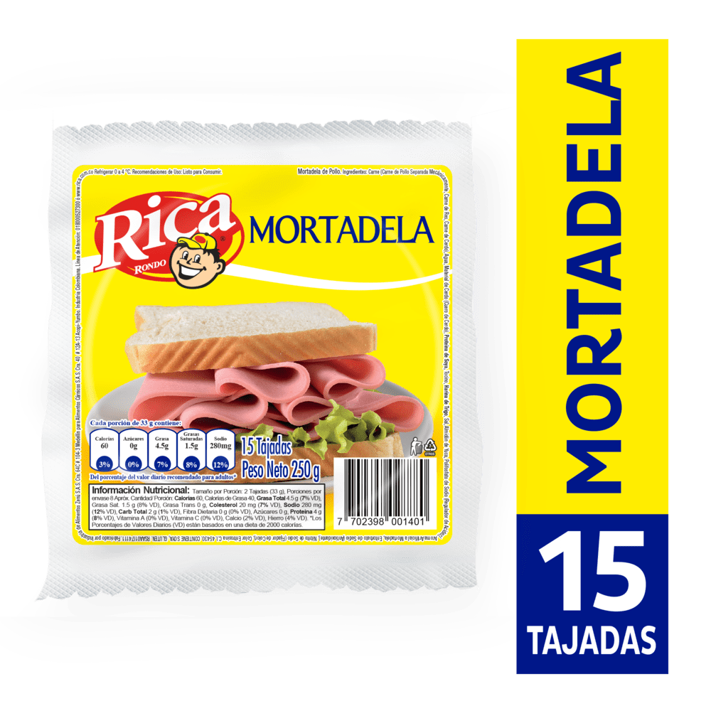 Mortadela Rica 250 G