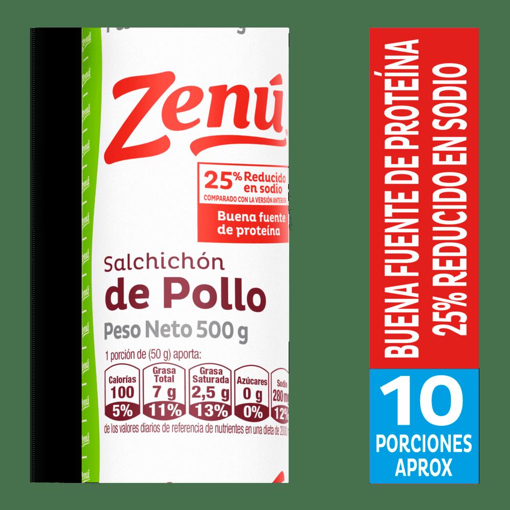 Salchichón Zenú Pollo 500 G