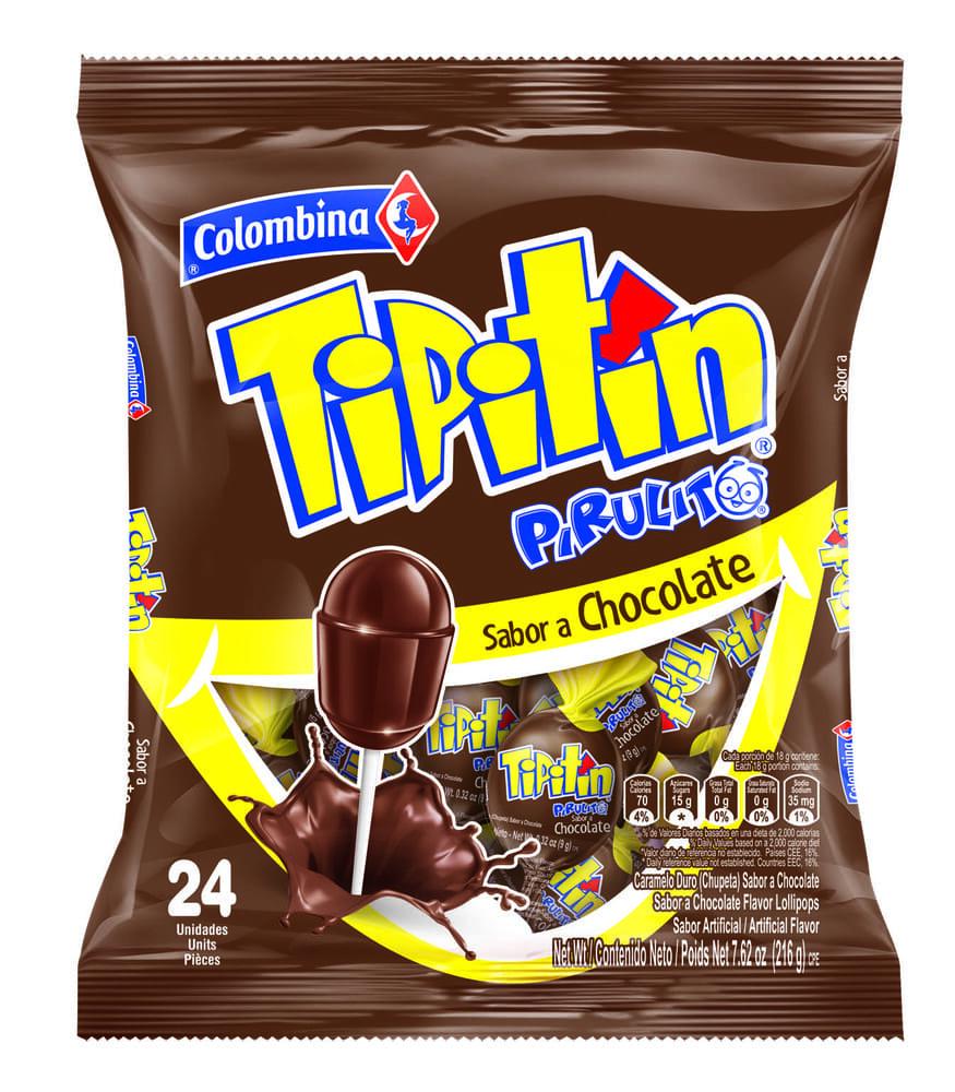 Dulce Pirulito Chocolate 24 Und