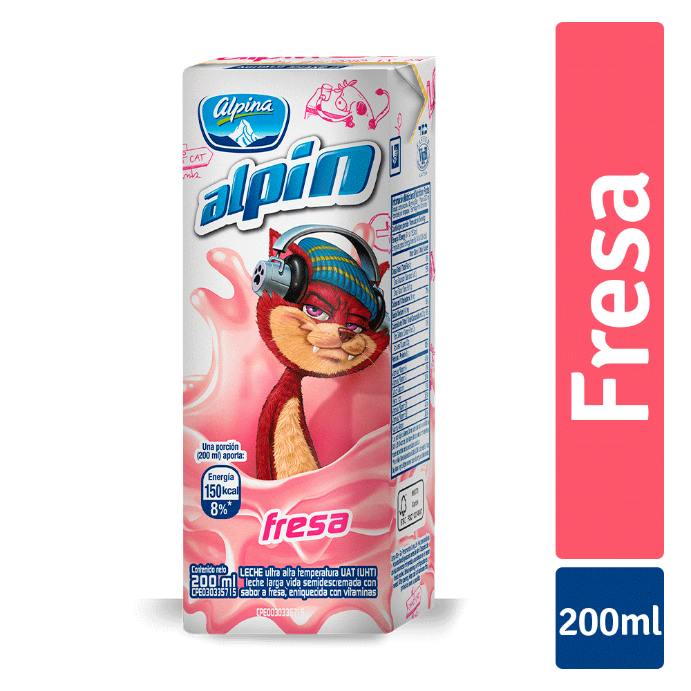 Alpin Fresa Caja 200Ml