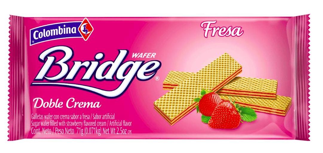 Galletas Bridge Mini Taco Fresa 71 G