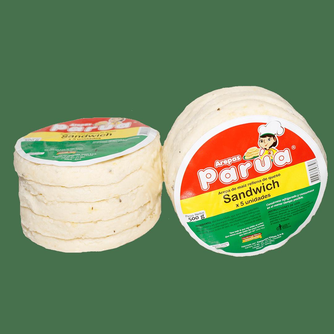 Arepas Parua Sandwich X 5Und /500 G