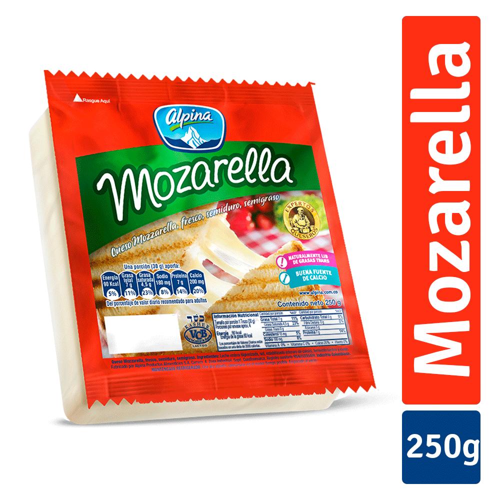 Queso Mozarella Bloque 250G