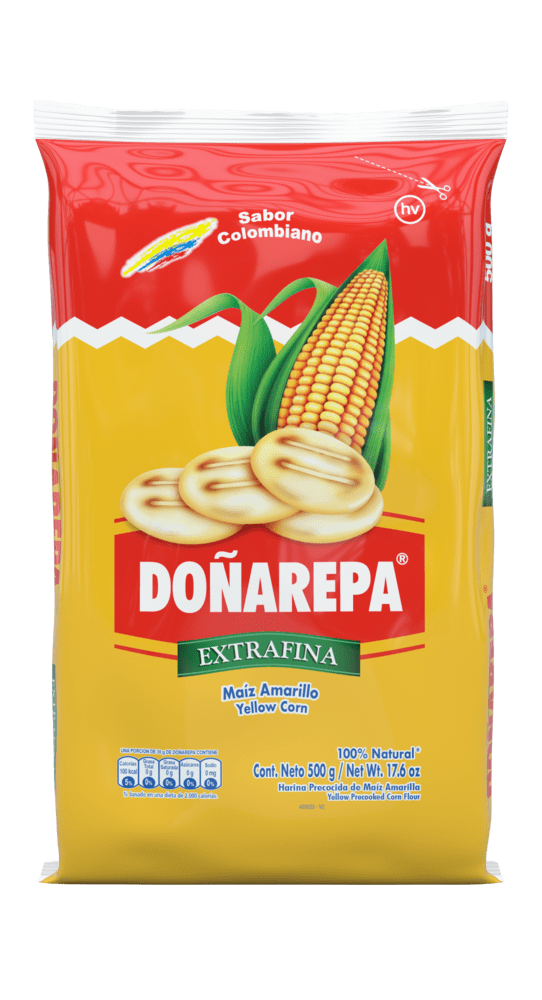 Harina De Maíz Amarillo Doñarepa 500 G