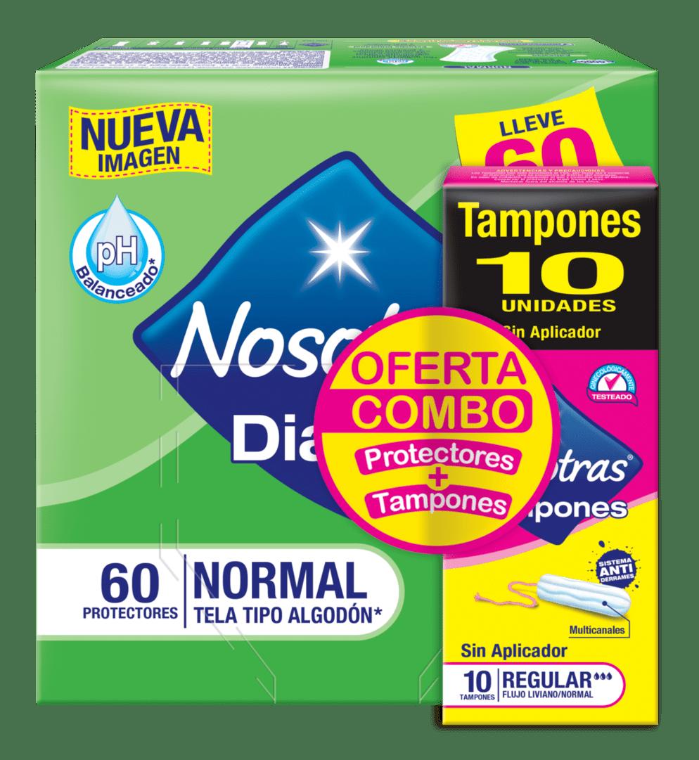 Protector Nosotras Diarios X60 + Tampon X10 Precio Especial