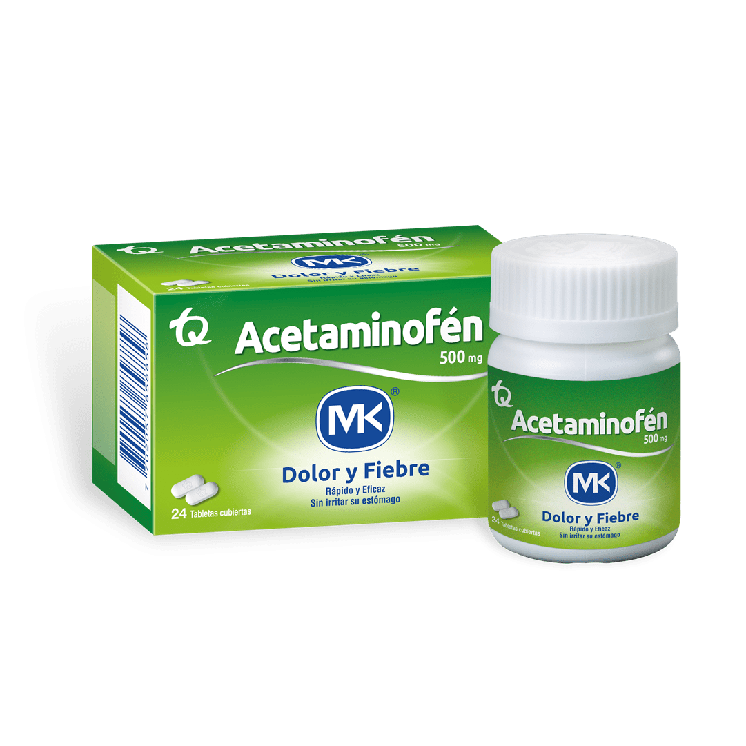 Acetaminofen Mk 500 Mg 24 Und
