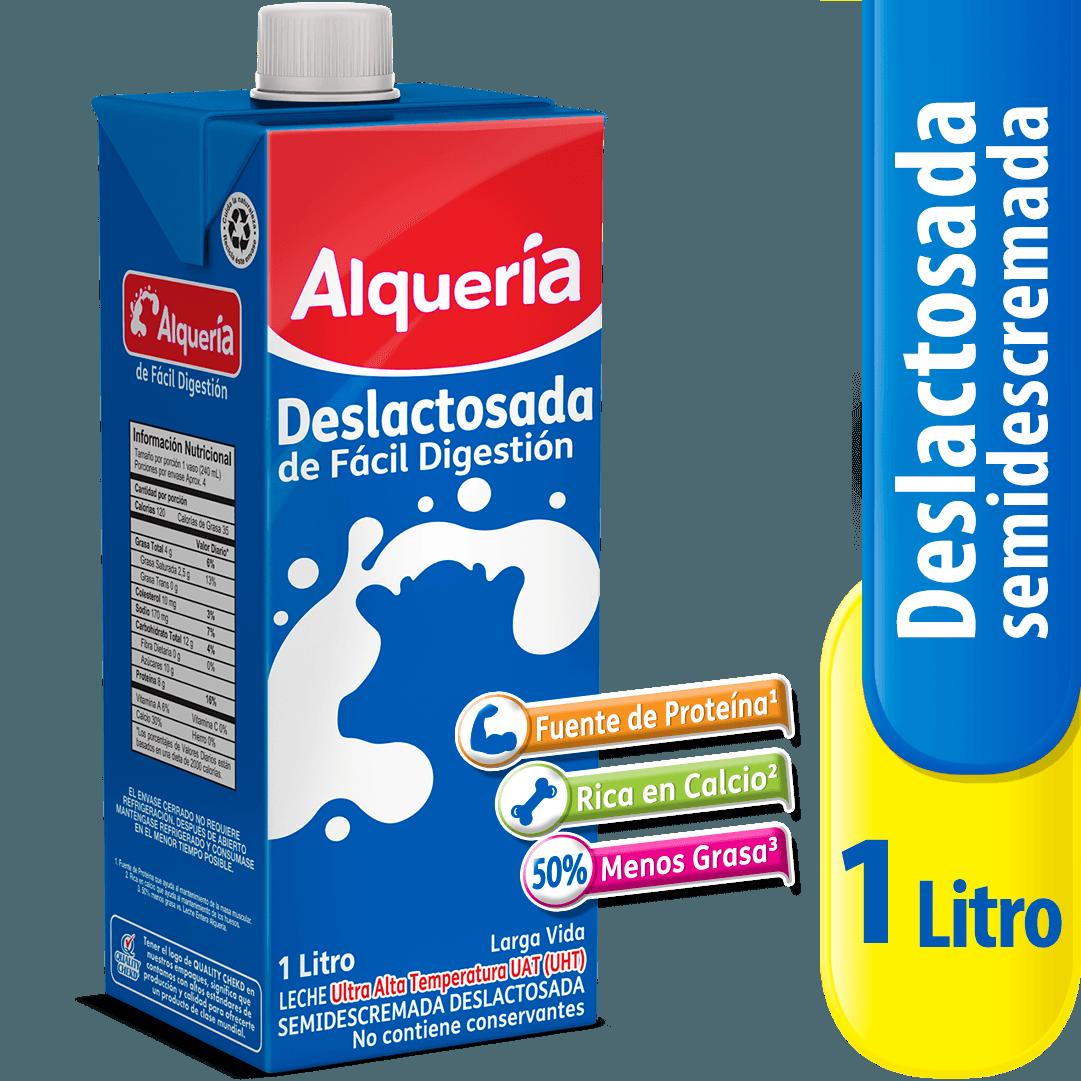 Leche Alquería Tetra Pack Deslactosada 1000 Ml