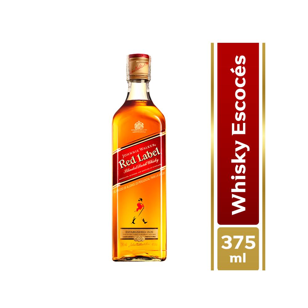 Whisky Johnnie Walker Sello Rojo 375 Ml
