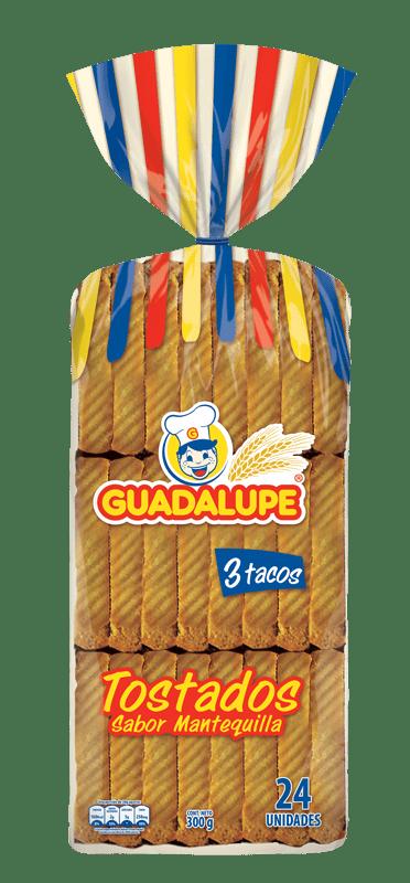 Tostadas Guadalupe Mantequilla X24 Und  280 G