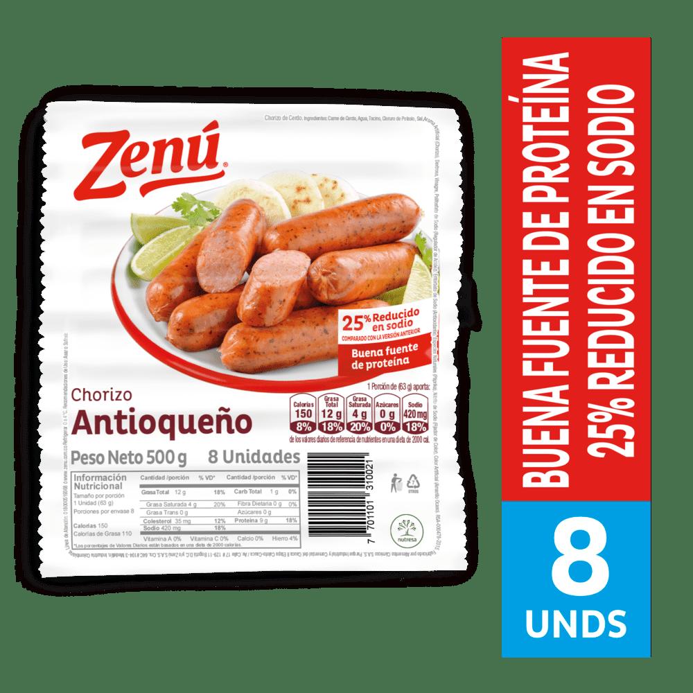 Chorizo Zenú Antioqueño 500 G