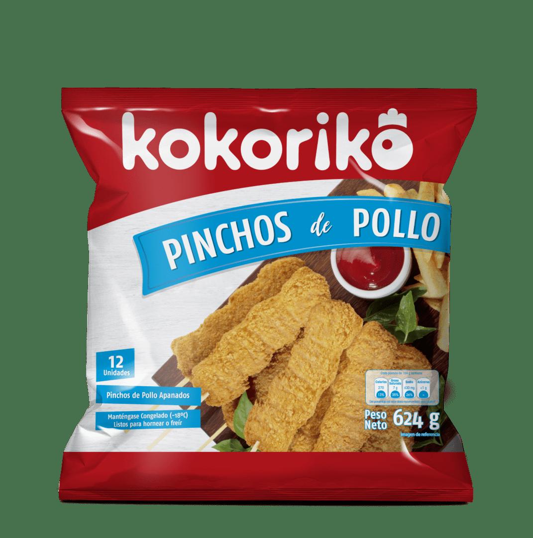 Kokori Pinchos Pollo X 12 Und / 624 G
