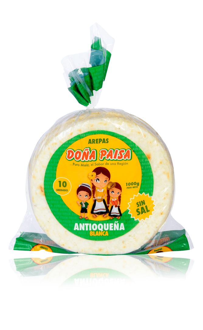 Arepa Doña Paisa Blanca X10und /900 G
