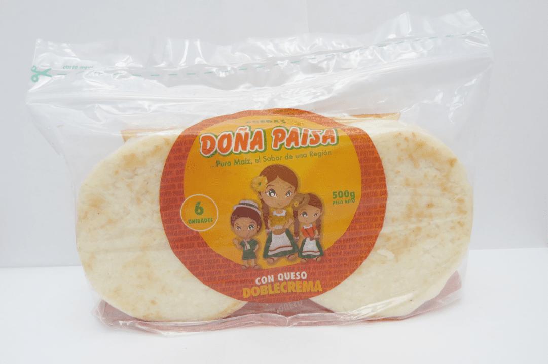 Arepa Doña Paisa Doble Crema Queso X 6Und /500 G