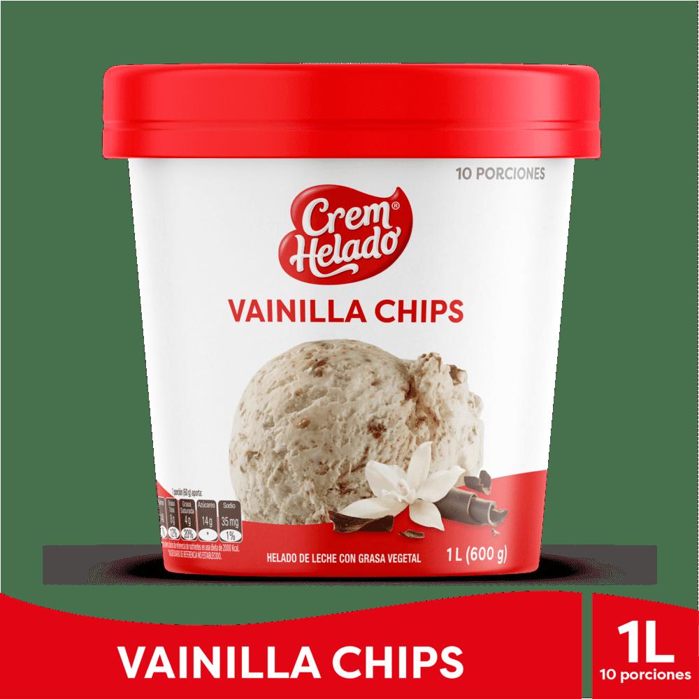 Helado Crem Helado Vainilla Chips 1 Litro/600 G