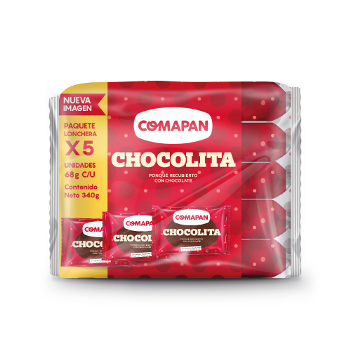 Tajada Comapan Chocolita 5 Und X68 G