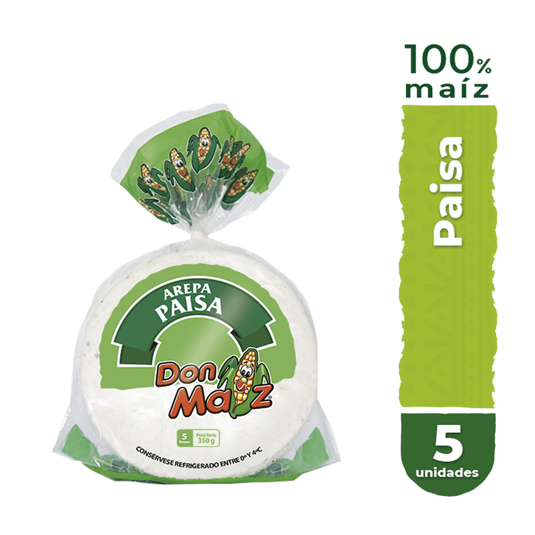 Arepas Don Maíz Paisa X5 Und 350 G