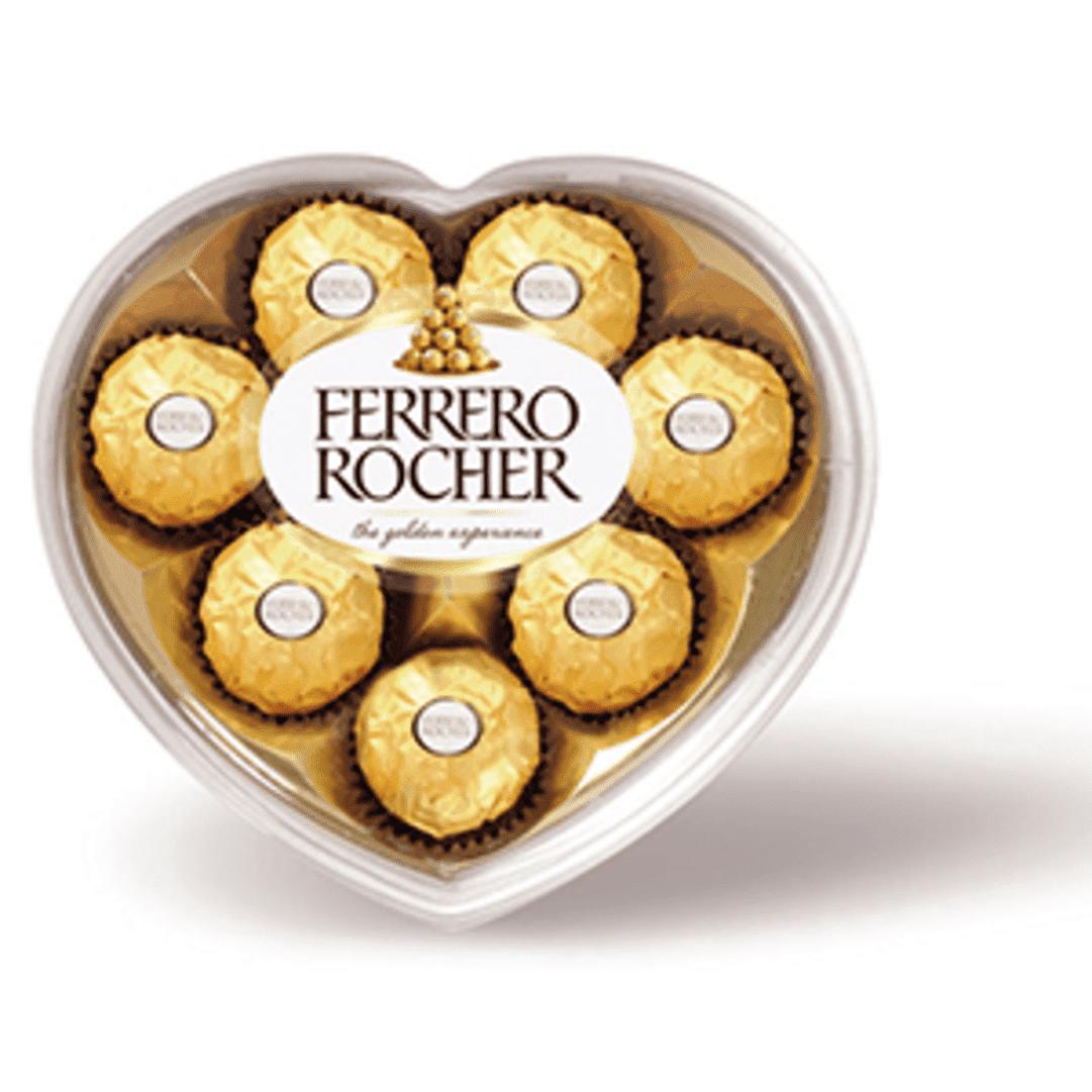 Chocolatina Ferrero Rocher X8 Corazon 100 G