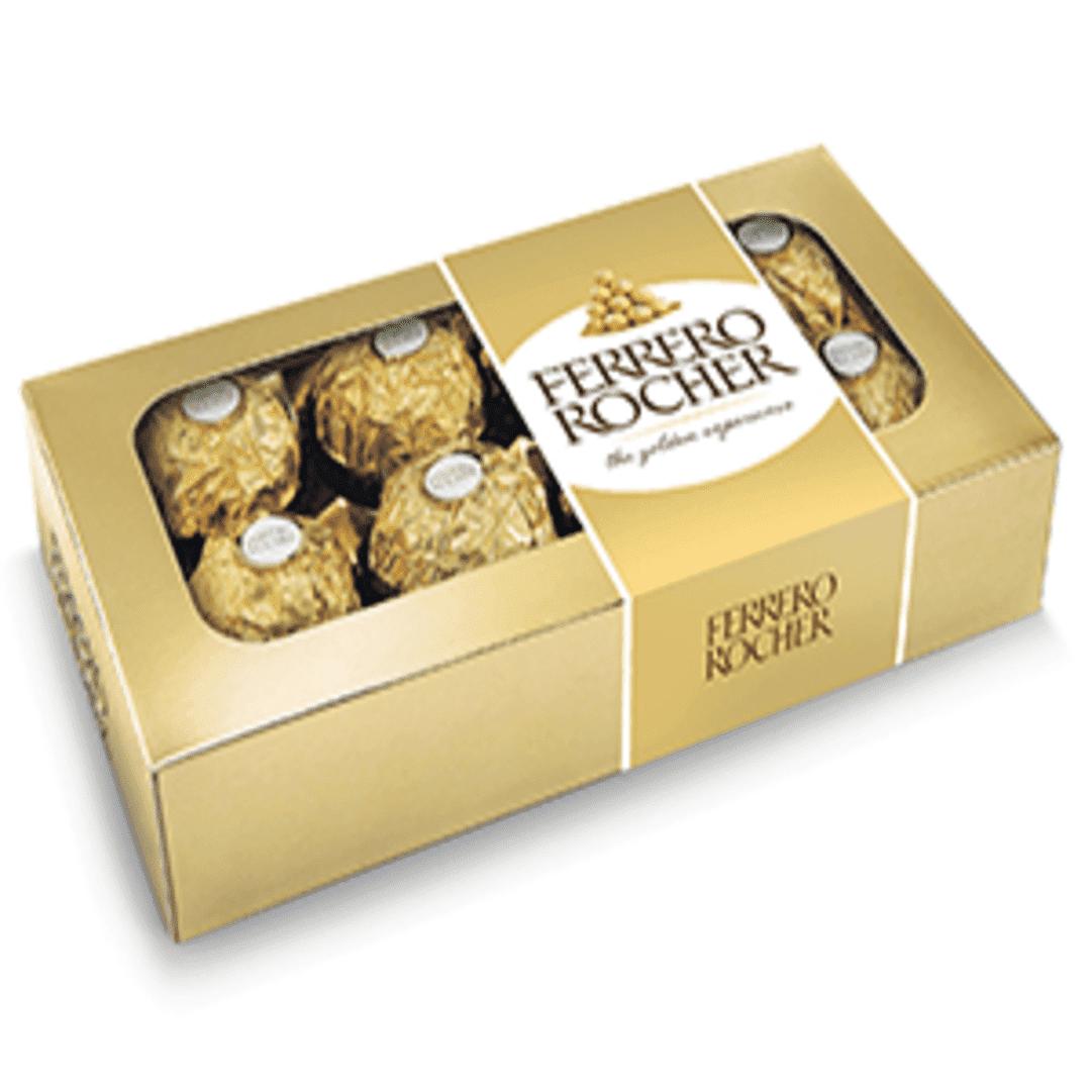 Chocolatina Ferrero Rocher X8 Champaña 100 G