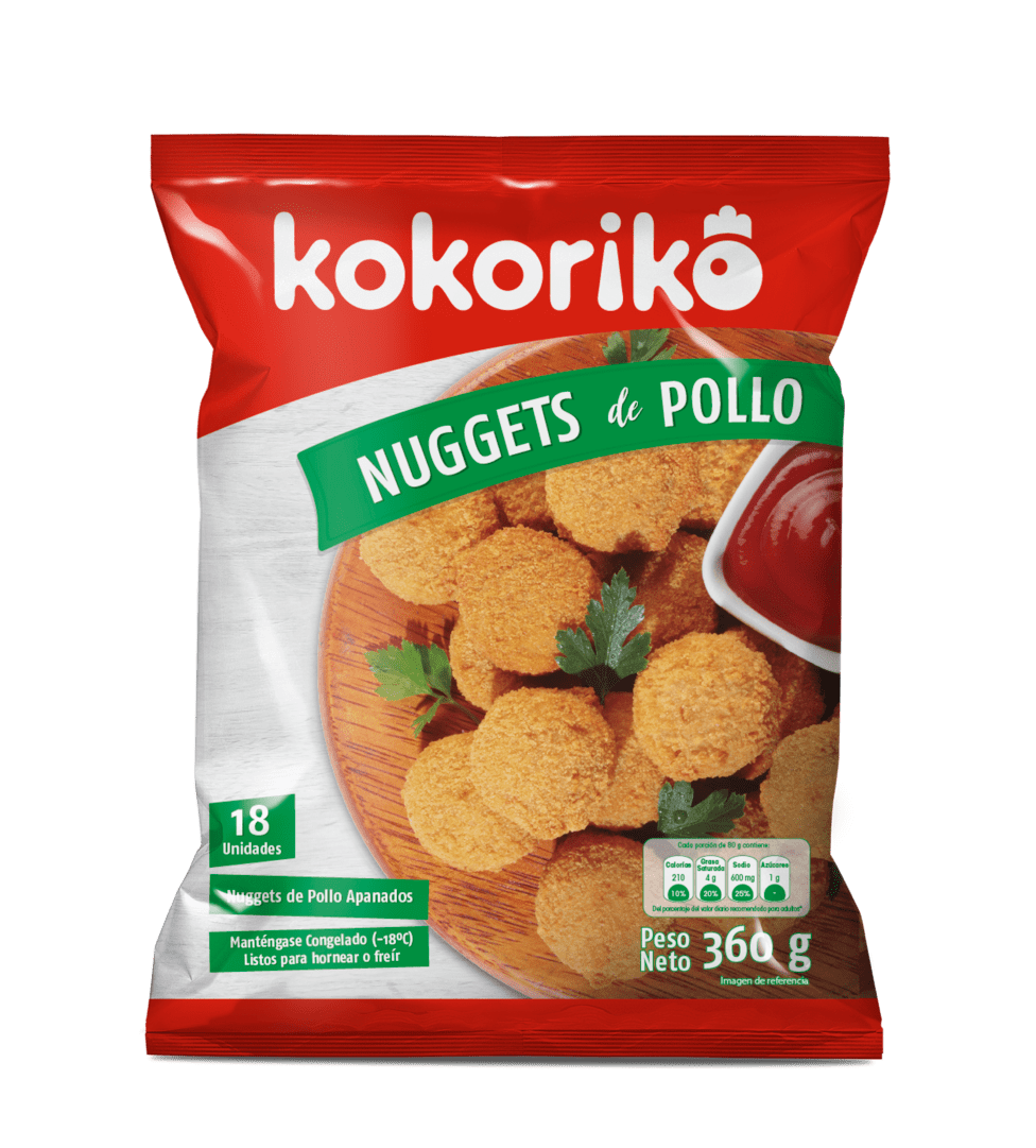 Kokori Nuggets Pollo X 18 Und /360 G