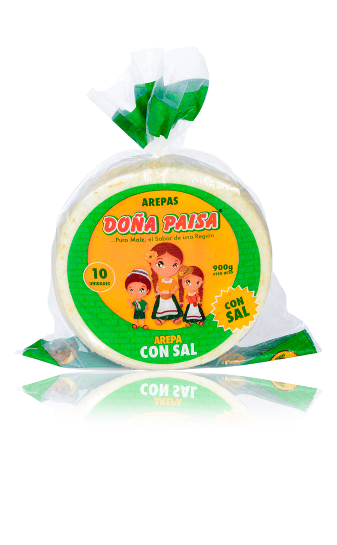Arepa Doña Paisa Blanca Con Sal X 10Und /900 G