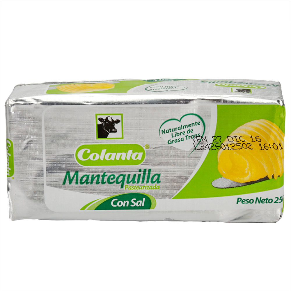Mantequilla Colanta Con Sal 250 G