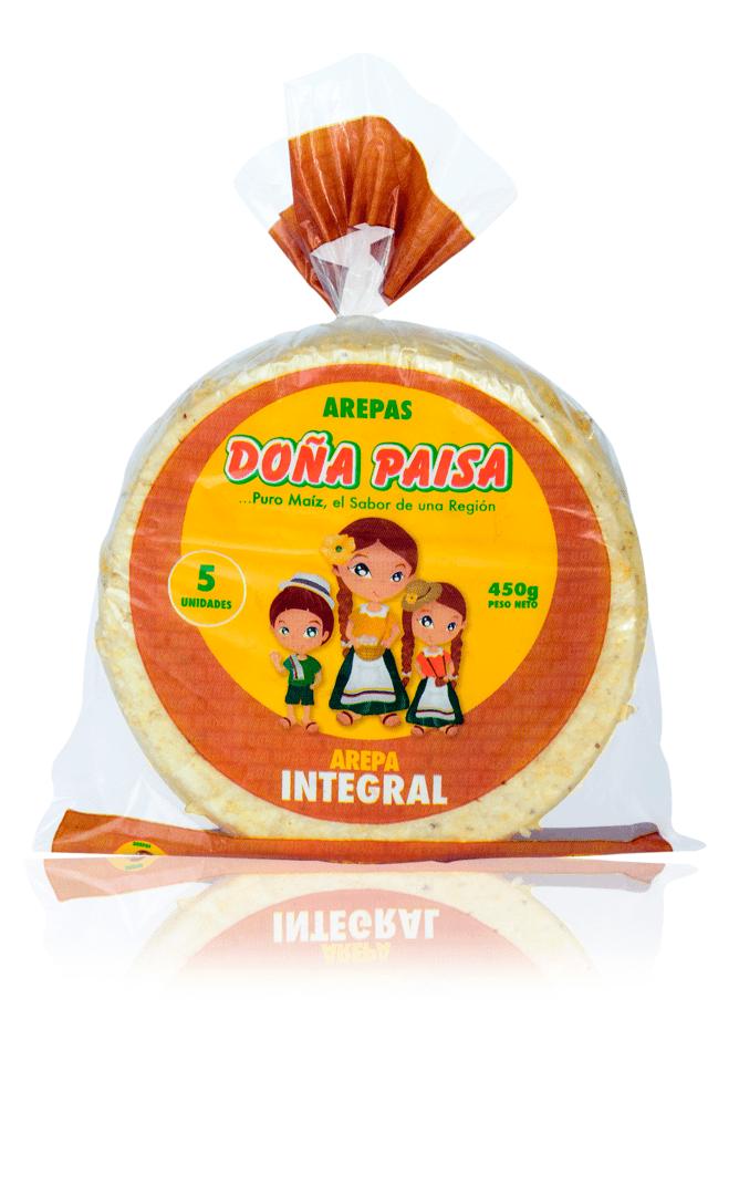 Arepa Doña Paisa Integral X 5Und /450 G