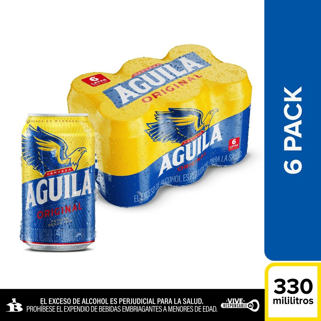 Cerveza Aguila Lata Sixpack 6 X 330 Cm3