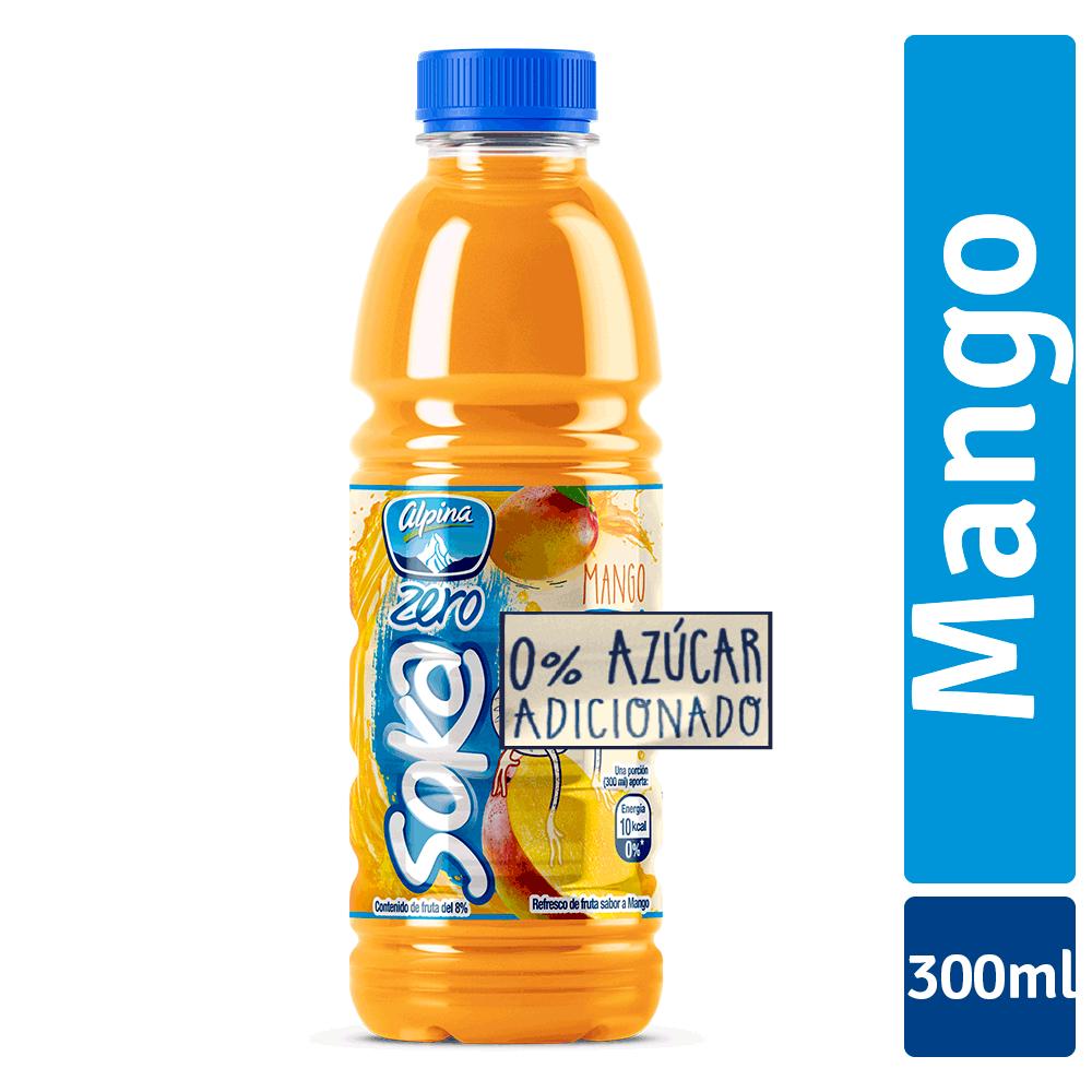 Soka Zero Mango Botella 300Ml