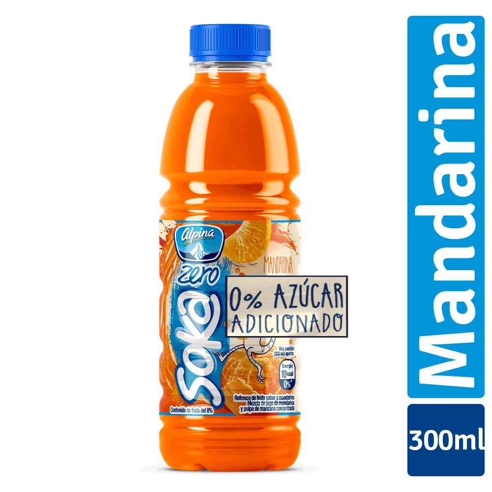 Soka Zero Mandarina Botella 300Ml