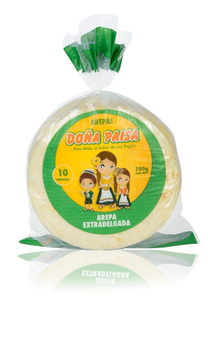 Arepa Doña Paisa Extradelgada X 10Und /700 G