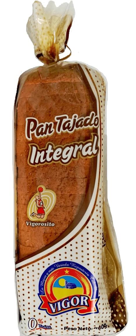 Pan Vigor Tajado Integral 480 G