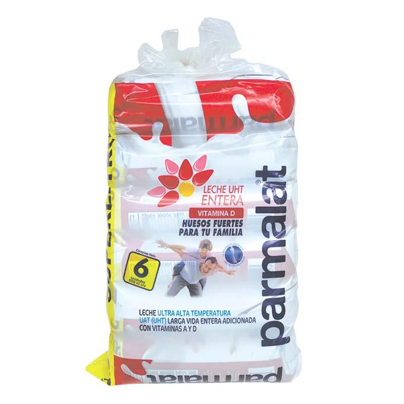 Leche Parmalat Entera Vitamina D Bolsa 6X1100 Ml
