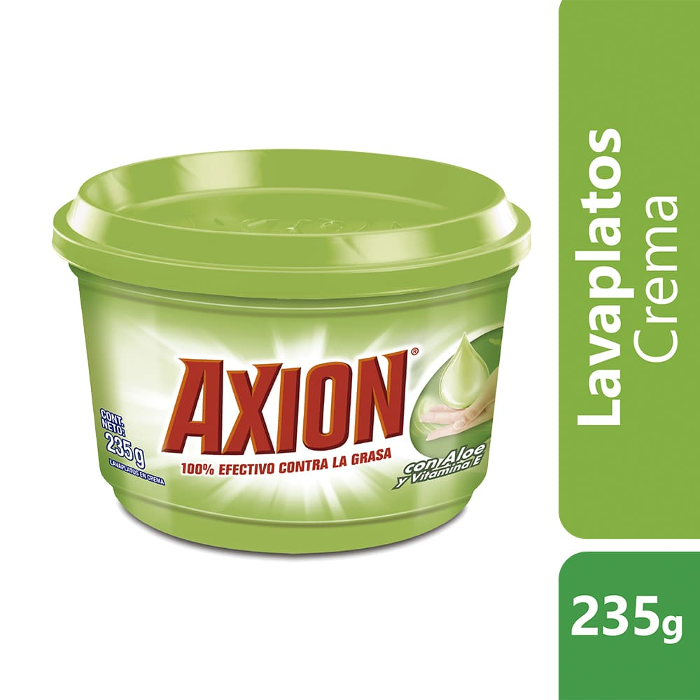 Lavaplatos Axión Aloe Crema 235 G