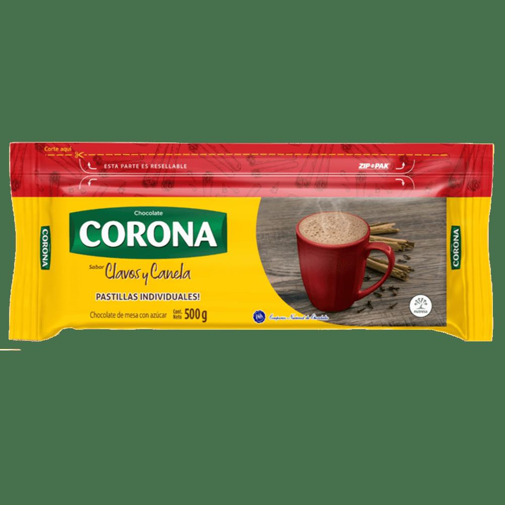 Chocolate Corona Clavos Y Canela 500 G