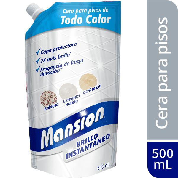 Cera Para Pisos Mansion Brillo Instantáneo Todo Color 500 Ml