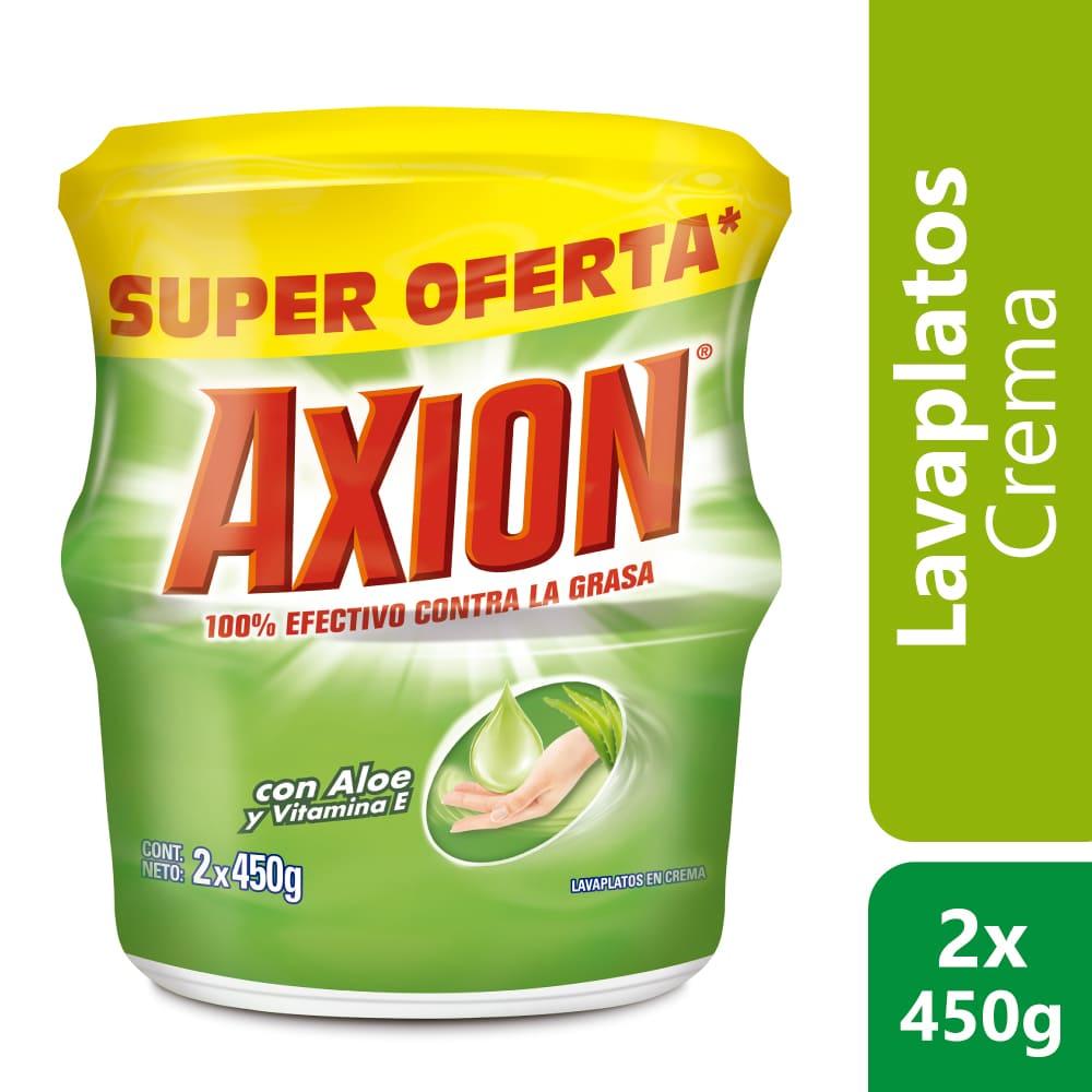 Lavaplatos Axión Aloe Crema  2X450 G