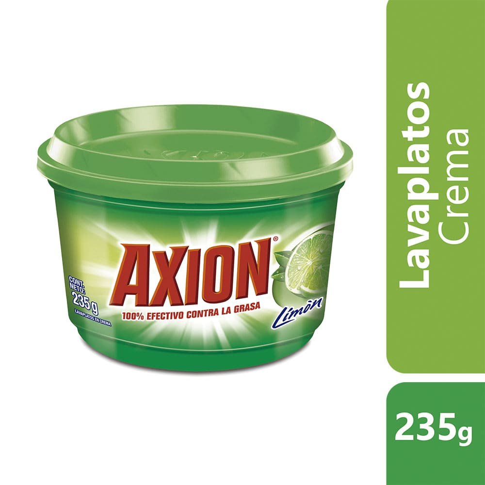 Lavaplatos Axión Limón Crema 235 G