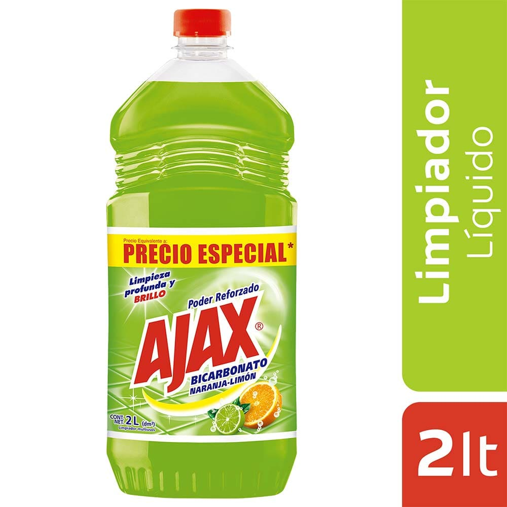 Ajax Bicarbonato Naranja Limón  2000 Cm3 Precio Esp.