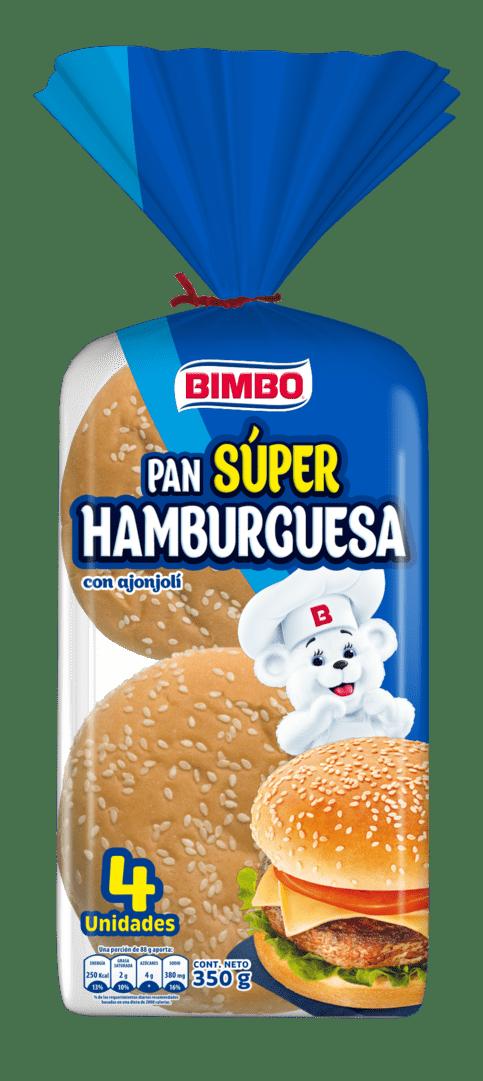 Pan Bimbo Súper Hamburguesa X4 Und 350 G