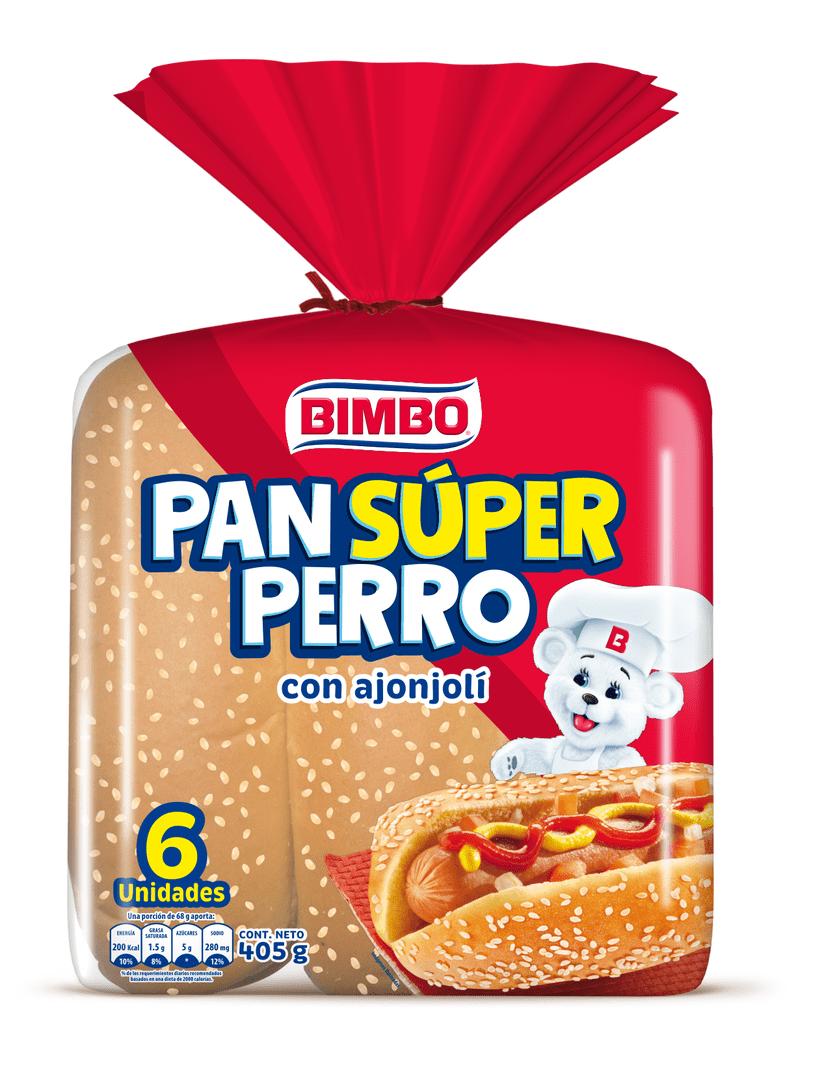 Pan Bimbo Súper Perro X6 Und 405 G