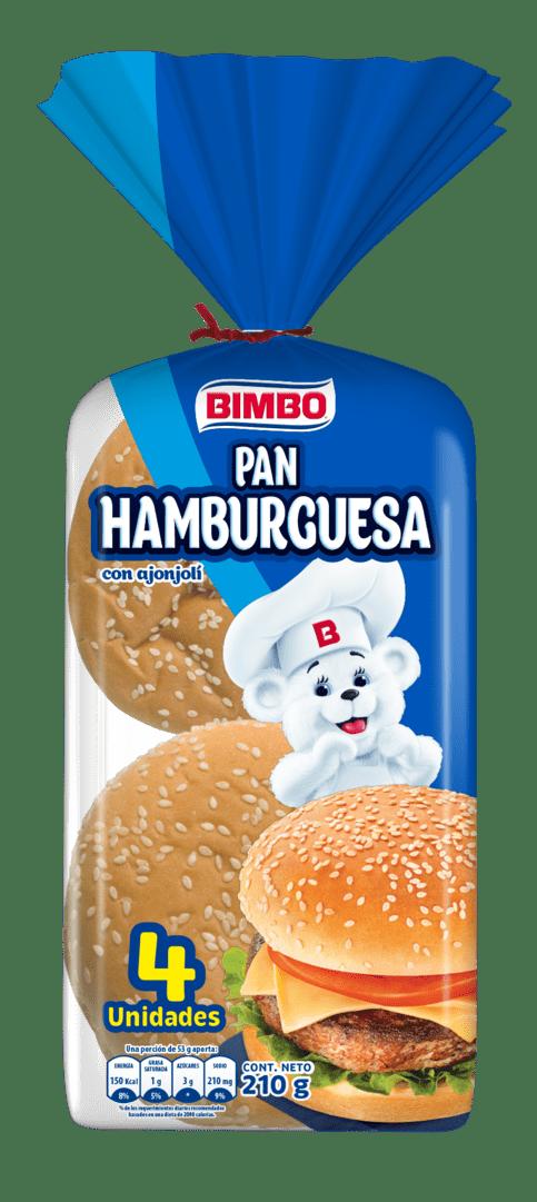 Pan Hamburguesa Bimbo X4 Und 210 G